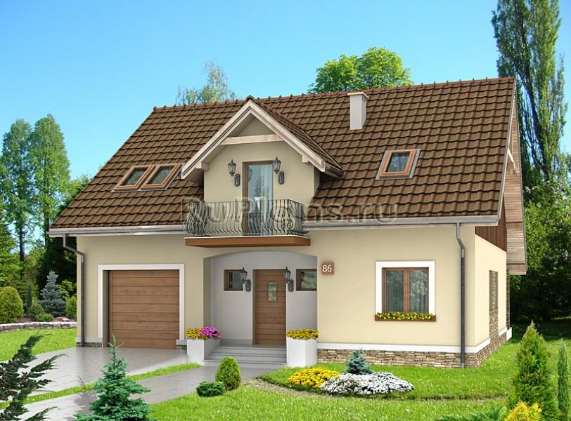 Проекты домов с мансардой и гаражом