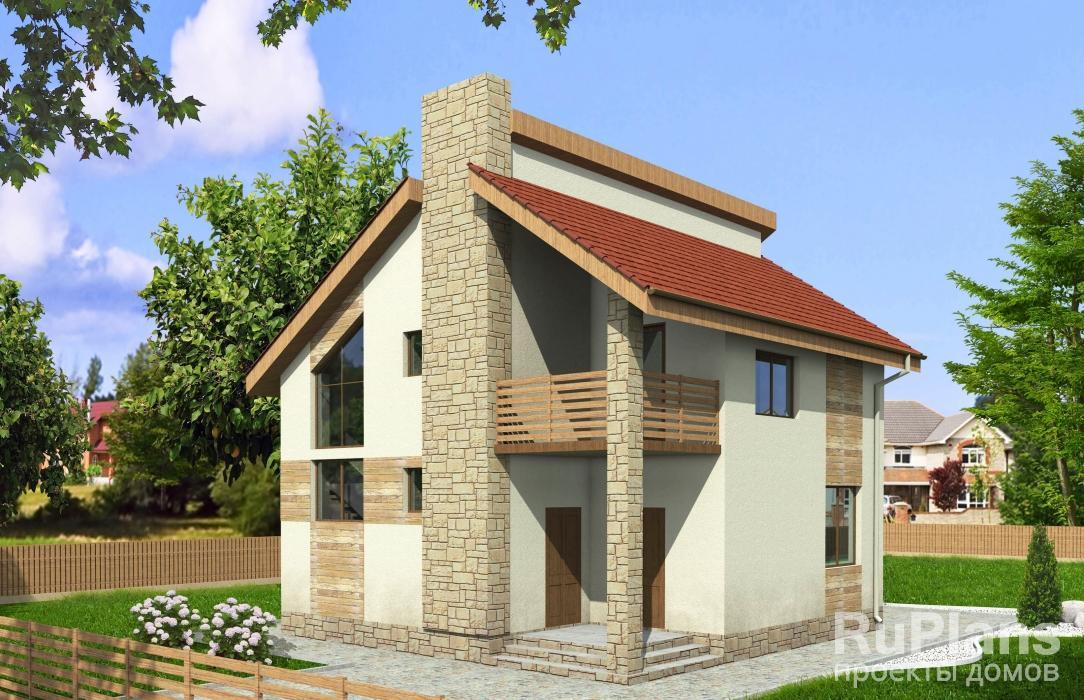Дом с мансардой и балконом vg971 в кисловодске - ставропольс.