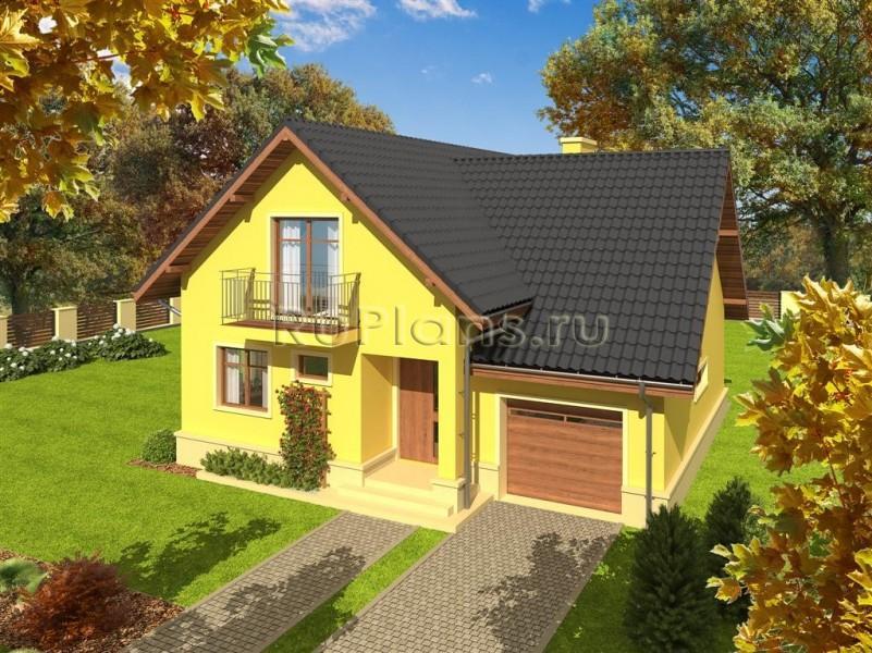 Проект одноэтажного дома с гаражом и