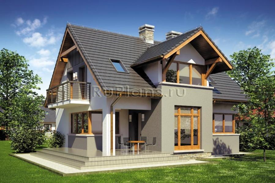 Проект одноэтажного дома с мансардой ...: https://ruplans.ru/proekti/proekti_3634.html