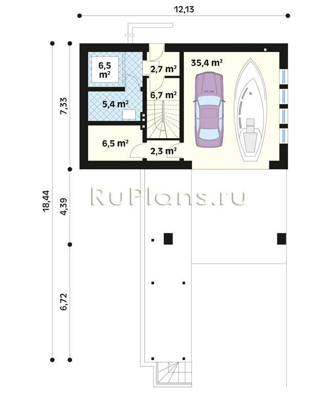 Проект одноэтажного уютного дома с