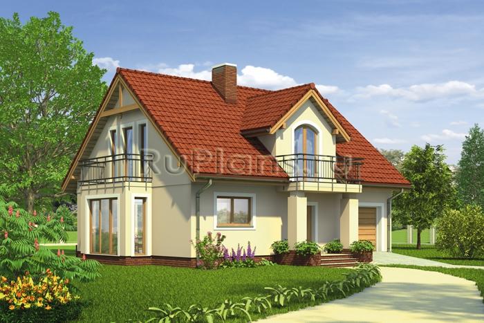 Проект современного дома с мансардой