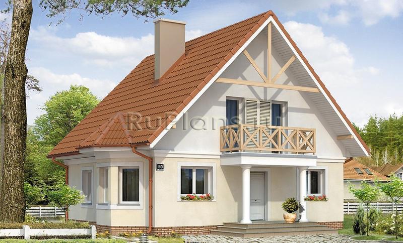 Проект одноэтажного дома с мансардой ...: https://ruplans.ru/proekti/proekti_475.html