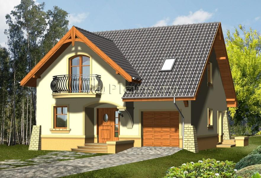 Проекты дачного домика с гаражом малого размера