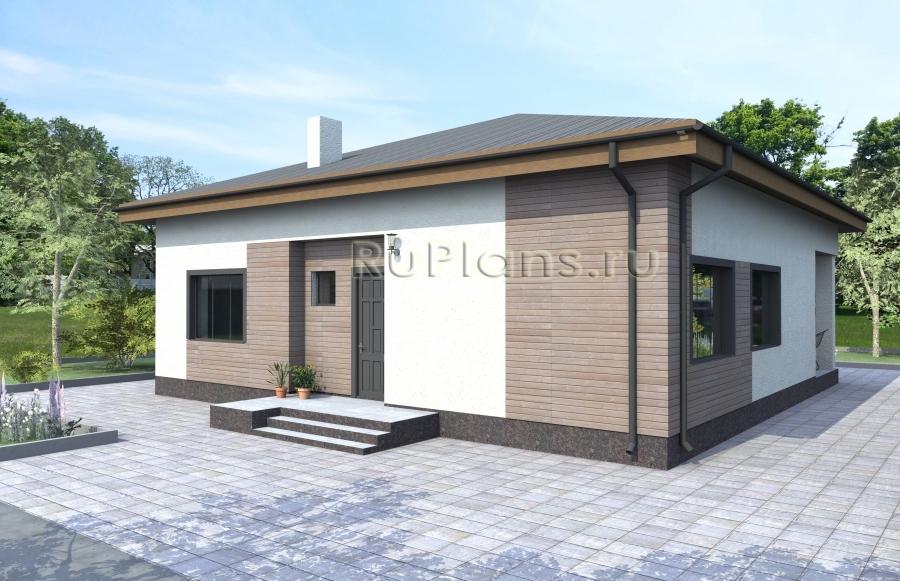 заказать Одноэтажный дом с террасой Rg3230
