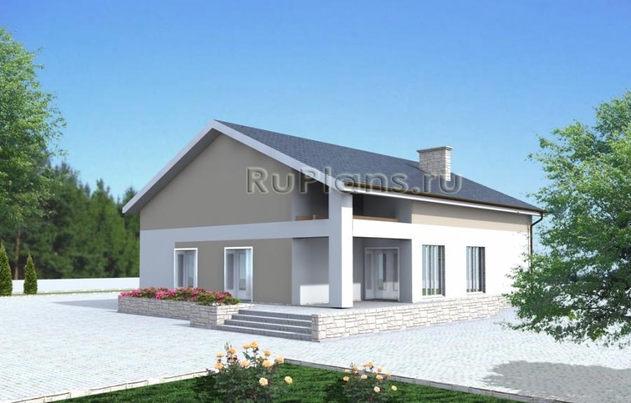Проект компактного одноэтажного жилого дома Rg3342