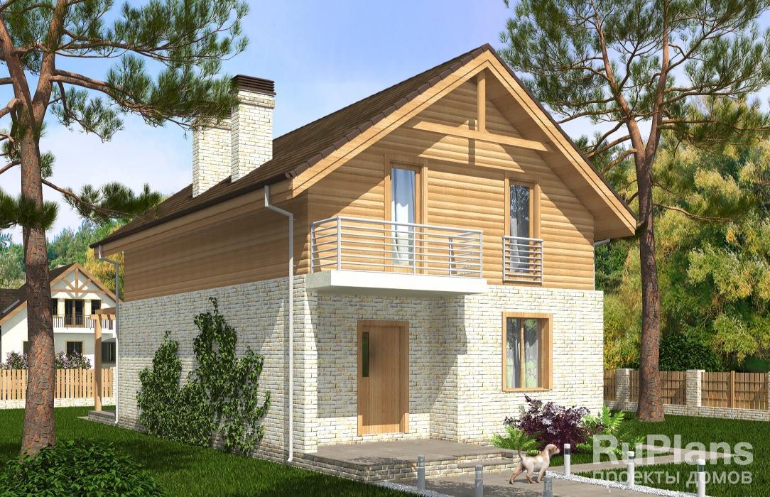 заказать Живописный дом с мансардой Rg3580