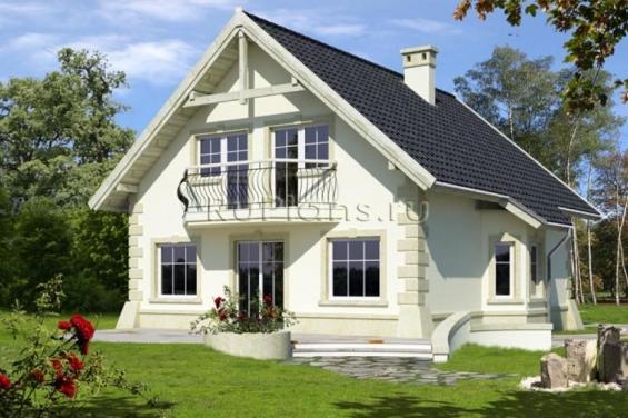 Проект домов и коттеджей 10 на 10 с цокольным этажом | 376x565