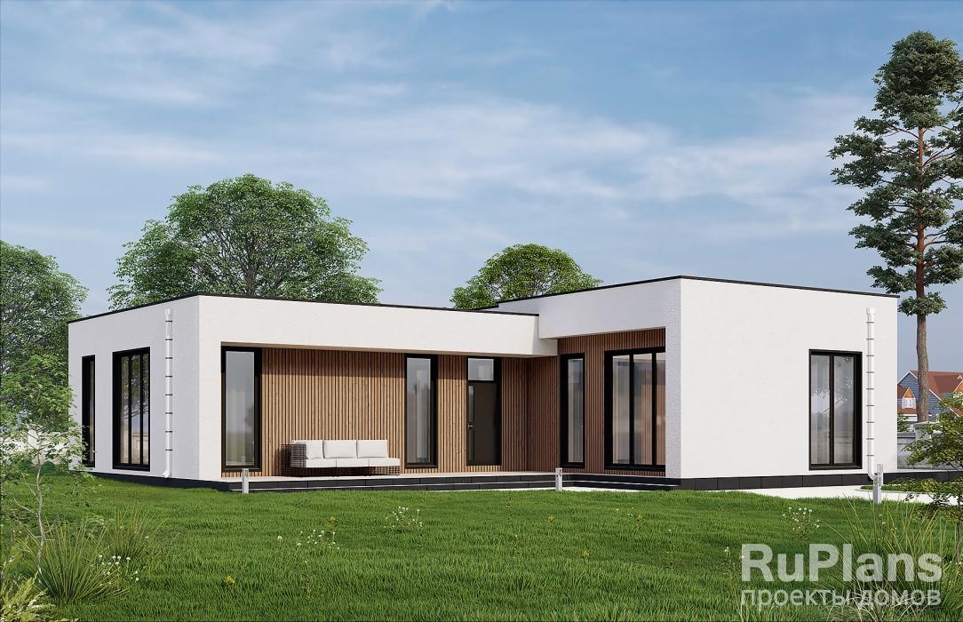 заказать Уютный и экономный дом с мансардой Rg3664
