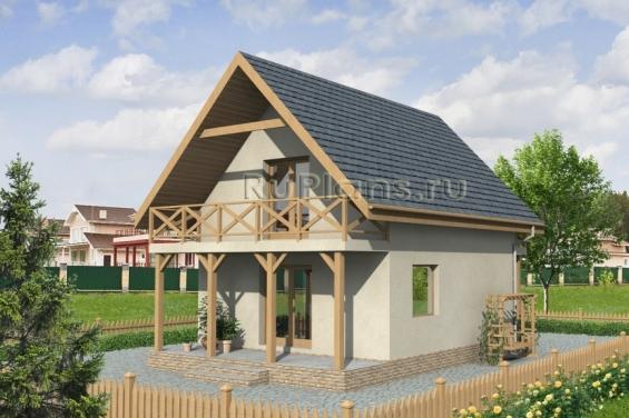 Проект дома 6 на 10 с мансардой и отличной планировкой | 376x565