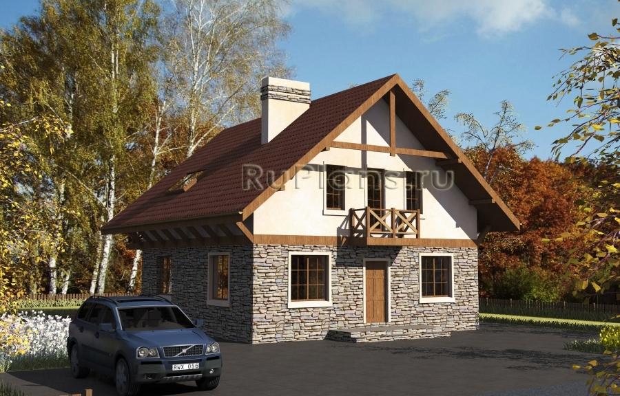 заказать Проект удобного дома с мансардой Rg3811