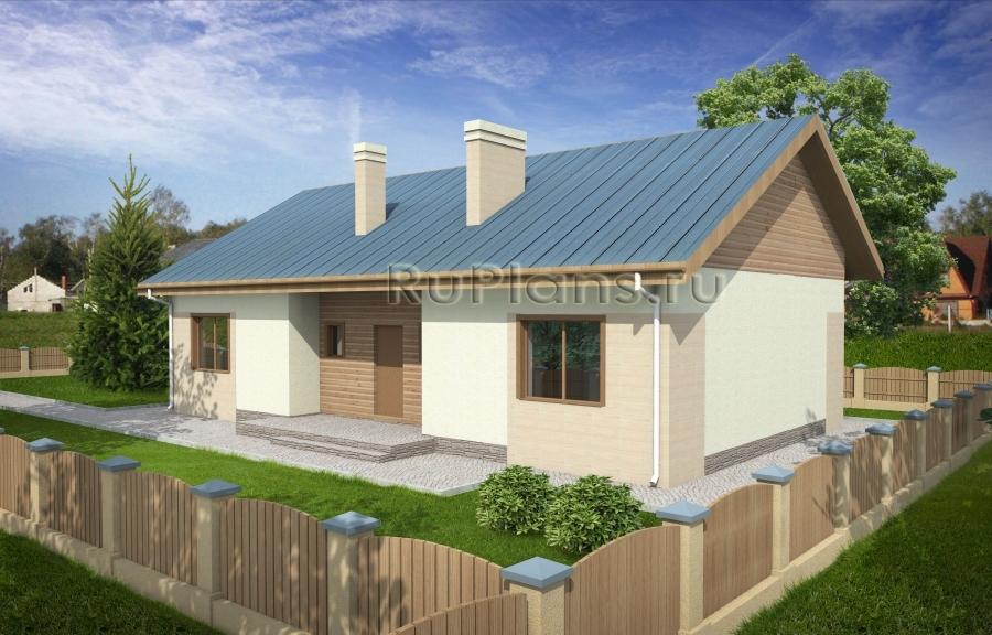 заказать Проект небольшого дома с чердаком Rg3815