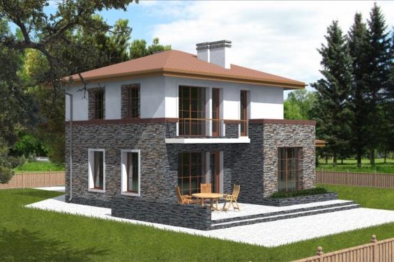 Коттедж проекты двухэтажные