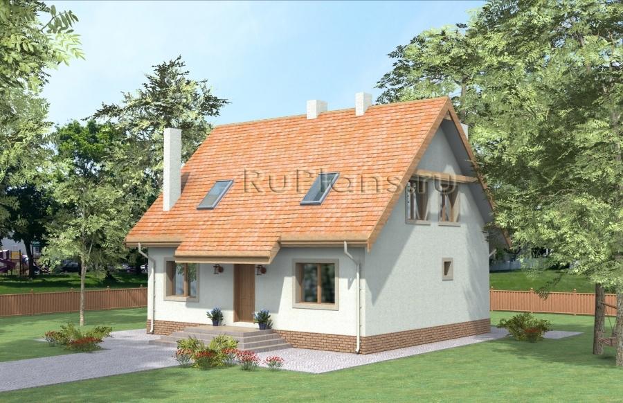 заказать Проект дома с мансардой Rg3857