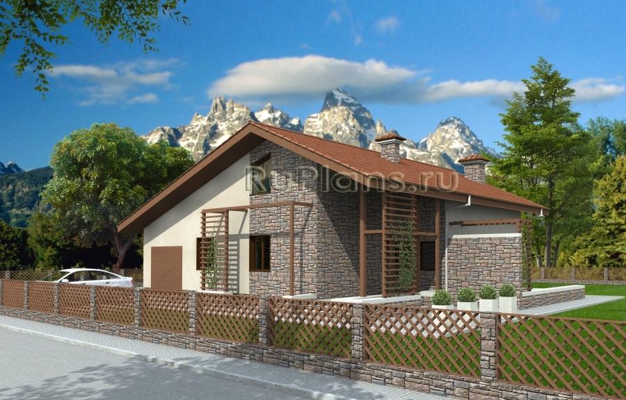 заказать Проект одноквартирного дома с мансардой Rg3887