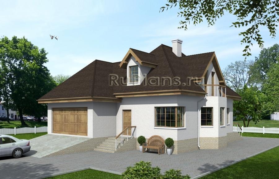 заказать Проект дома с подвалом и мансардой Rg3907