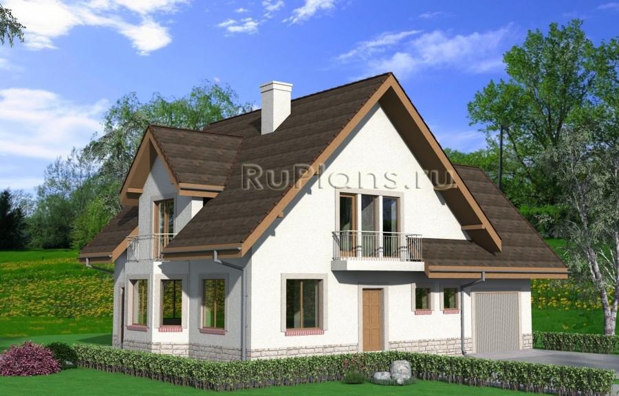 заказать Проект дома с мансардой Rg3930
