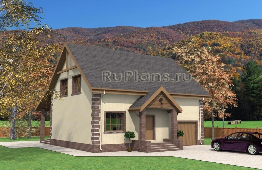 заказать Проект дома с мансардой Rg3933