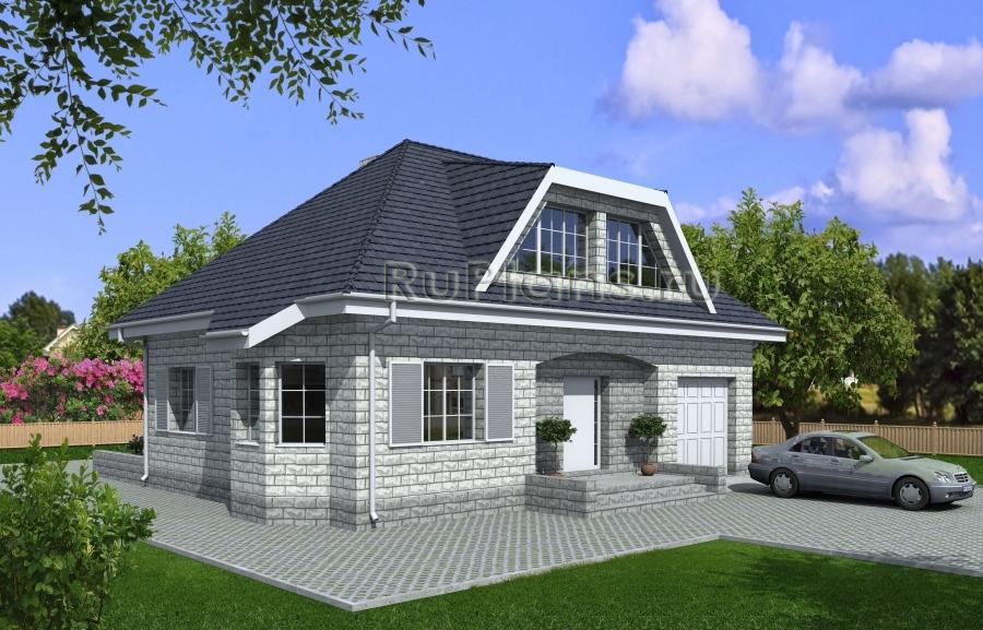 заказать Проект уютного дома из теплоблока Rg3945