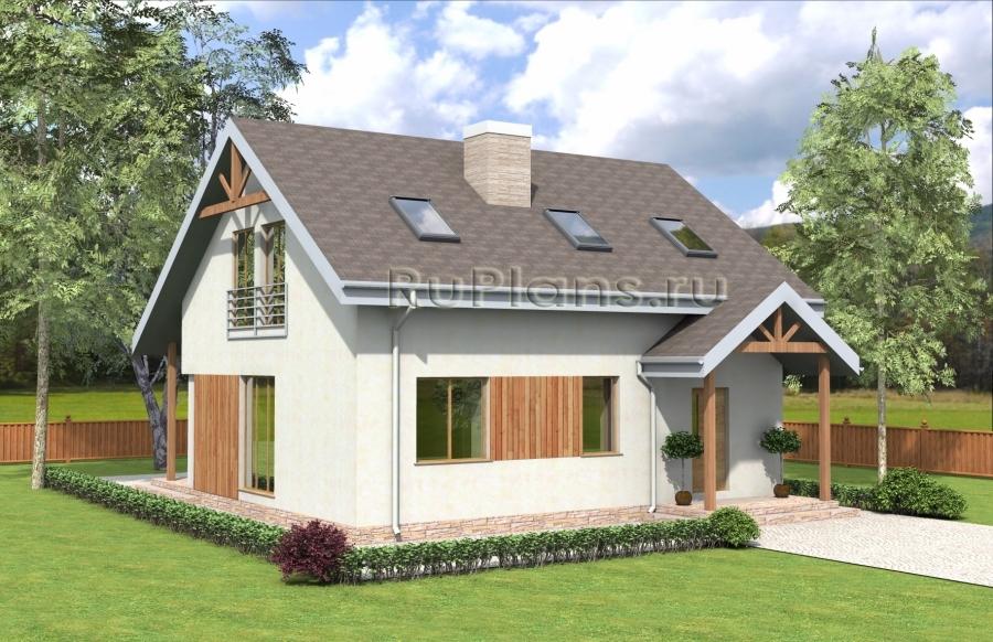 заказать Проект комфортного дома с мансардой Rg3982