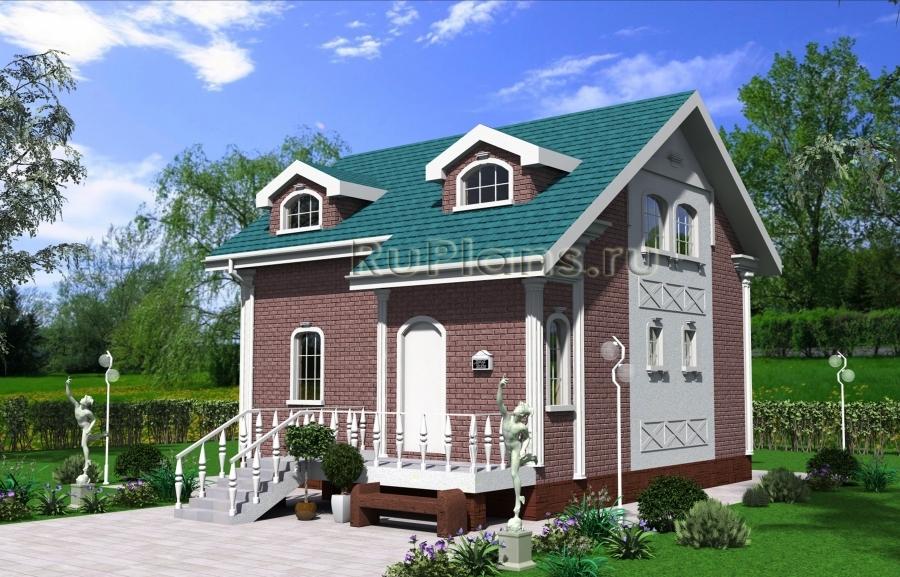 заказать Проект частного дома с мансардой Rg4034