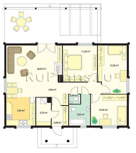 Дизайн домов внутри планировка одноэтажного