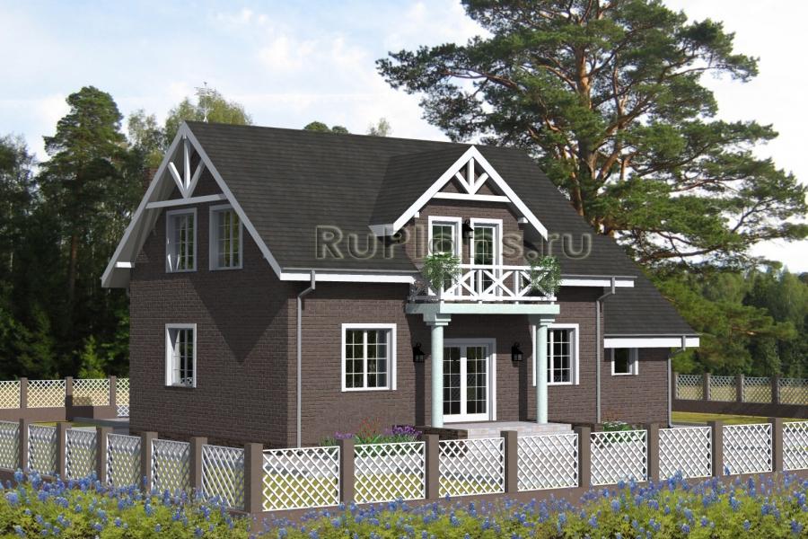 заказать Проект компактного дома с гаражом Rg4739