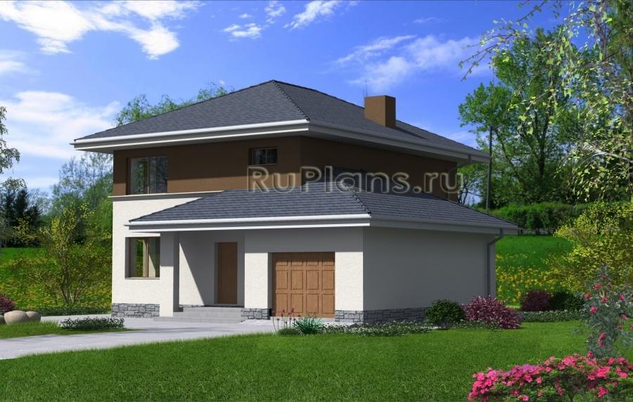 заказать Проект загородного дома из забутовочного кирпича Rg4776