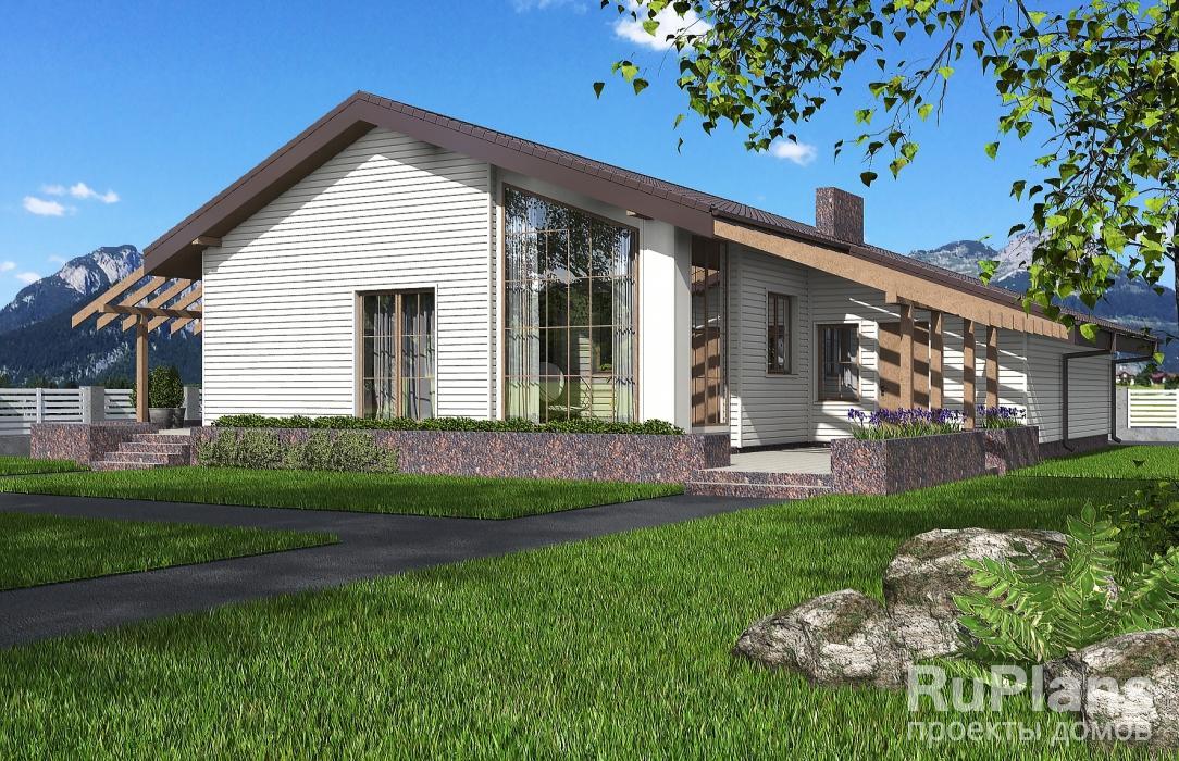 заказать Проект одноэтажного дома с террасой Rg4809