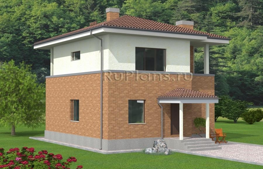 заказать Проект двухэтажного дома с большой гостиной Rg4874