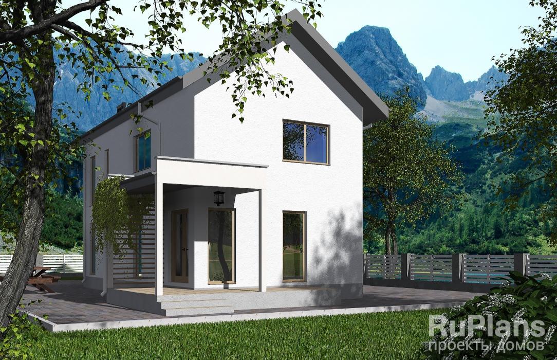 заказать Проект двухэтажного дома для узкого участка Rg4879