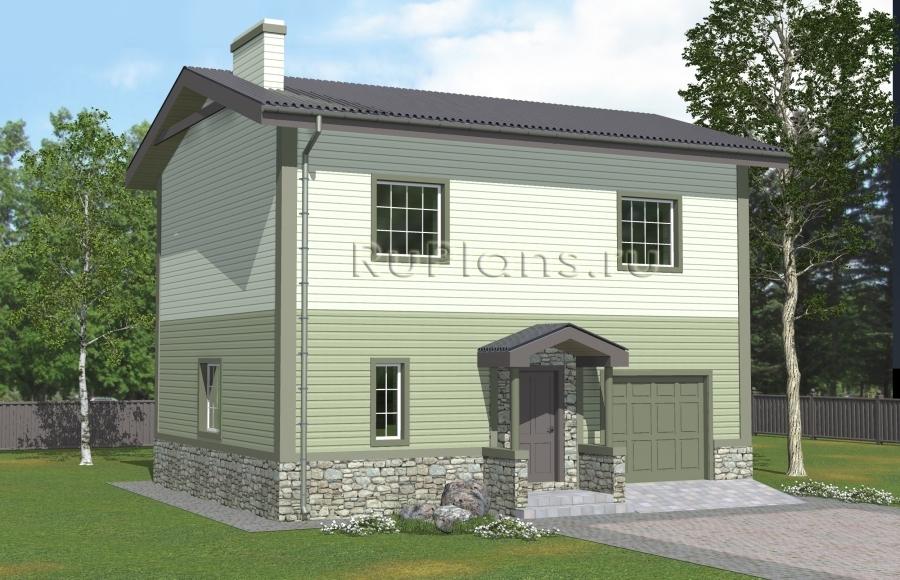 заказать Проект лаконичного двухэтажного дома Rg4984