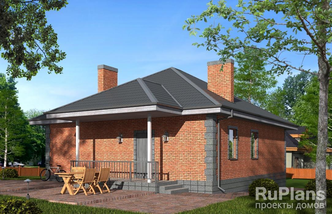 заказать Проект уютного одноэтажного дома Rg5017