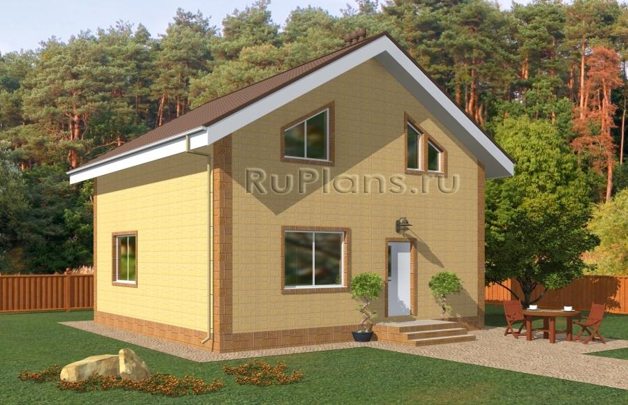 заказать Проект небольшого одноэтажного дома с мансардой Rg5022