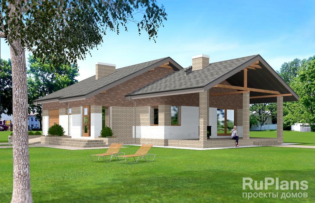 заказать Одноэтажный дом с террасой Rg5085