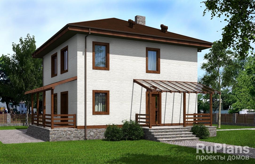 заказать Проект двухэтажного жилого дома с террасами Rg5108