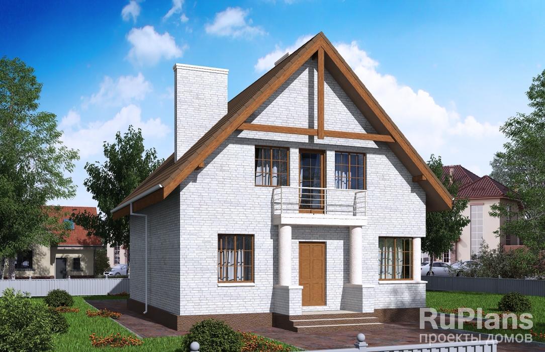 заказать Дом с мансардой и балконами Rg5121