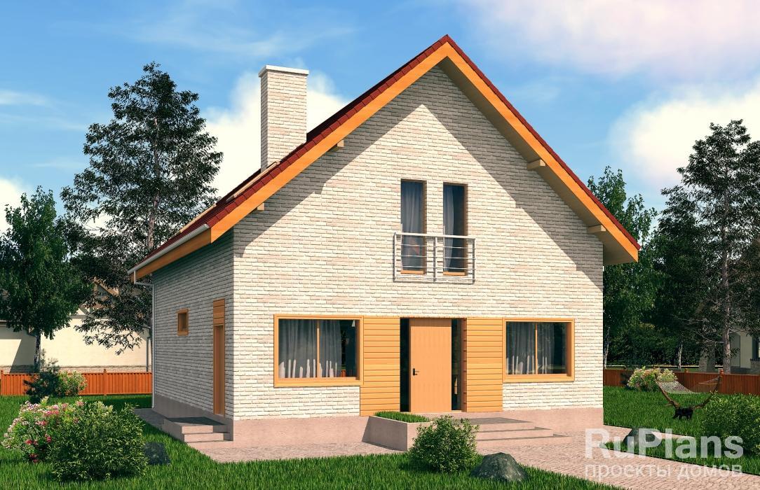 заказать Дом с мансардой и террасой Rg5127