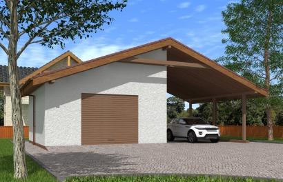 Проекты гаражей с навесом фото металлические верстаки для гаража фото