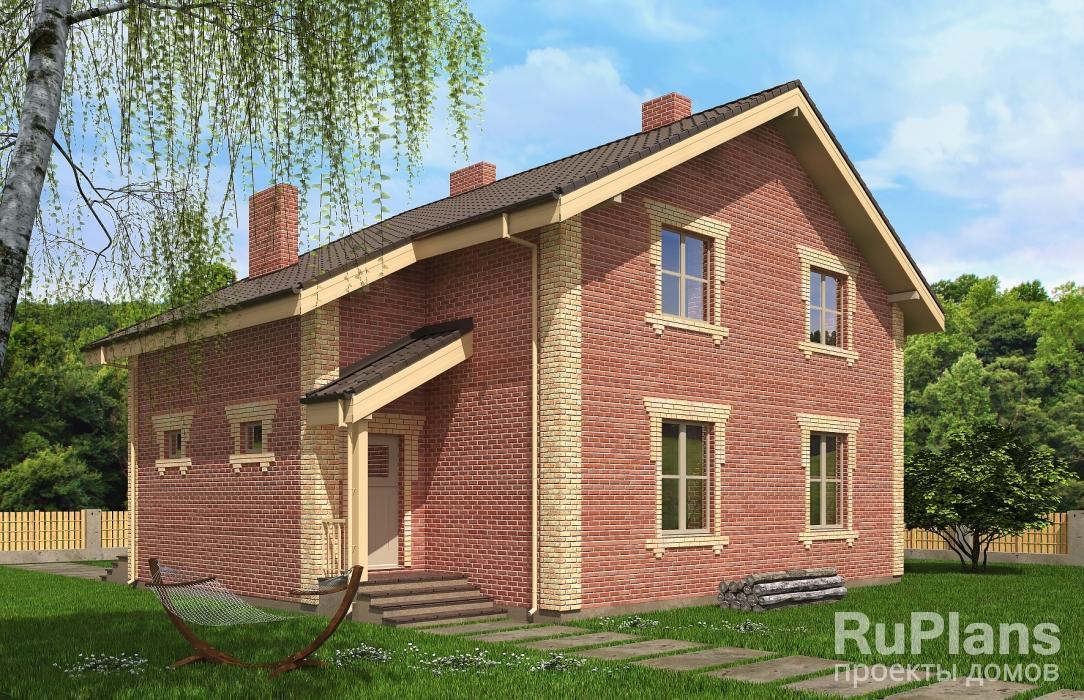 заказать Проект одноэтажного жилого дома с мансардой Rg5181