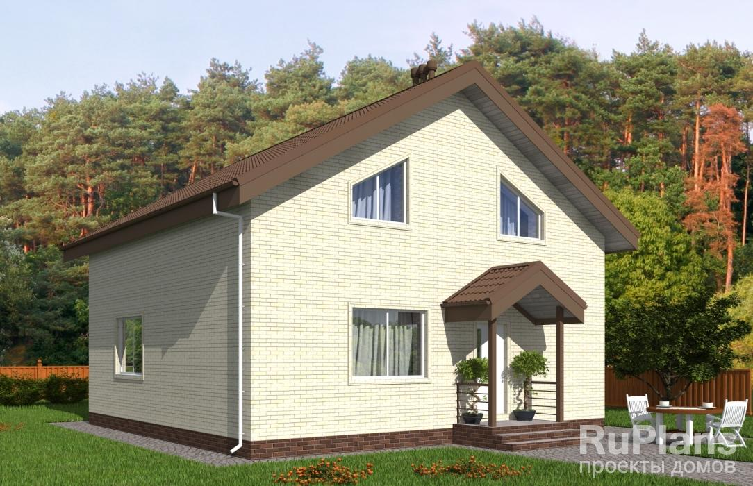 заказать Одноэтажный дом с мансардой Rg5193