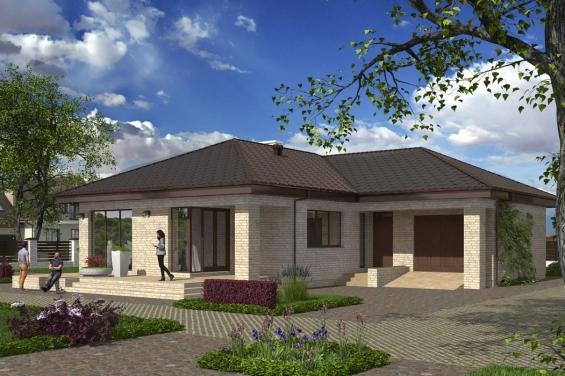 10 на 10 дом одноэтажный из керамзитобетона