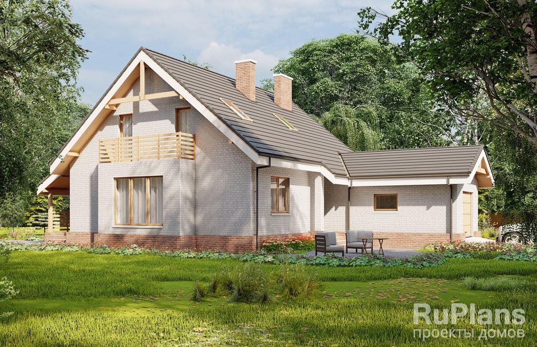 заказать Проект одноэтажного жилого дома с мансардой Rg5225