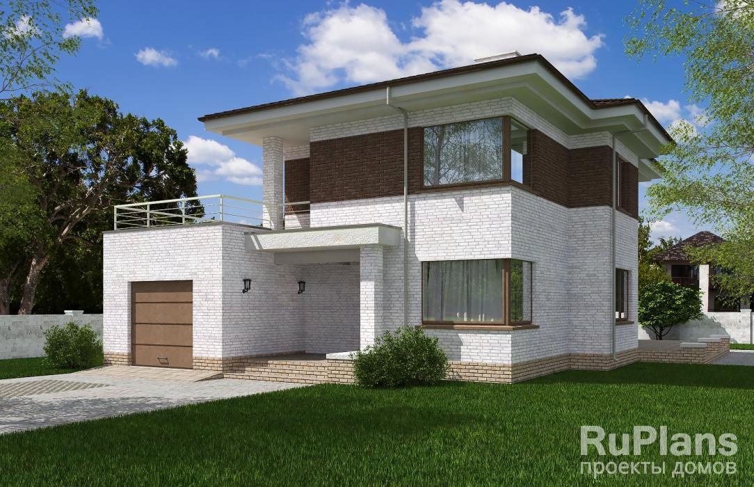 Двухэтажный дом с гаражом, террасами и балконом vg2618 в хан.