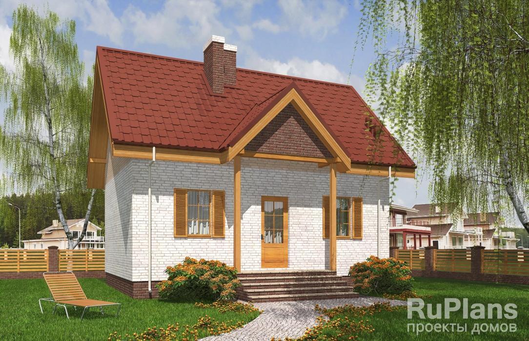 заказать Одноэтажный дом с мансардой Rg5248