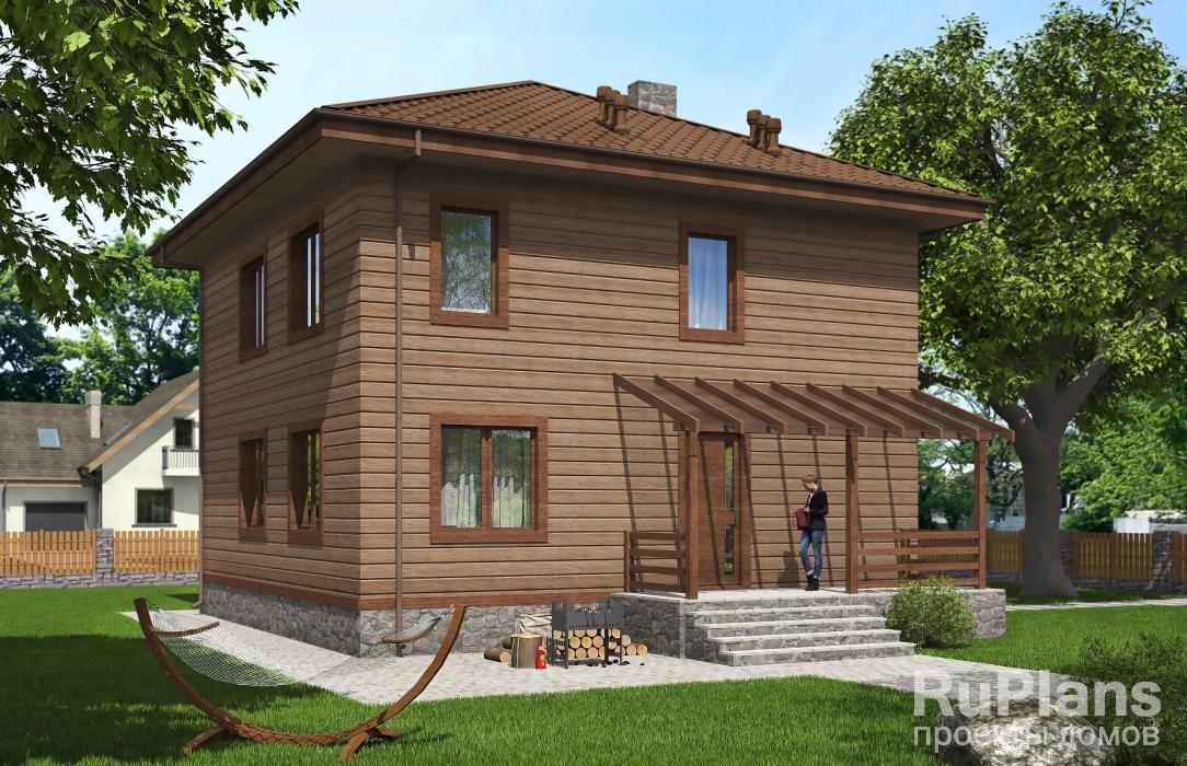 заказать Двухэтажный жилой дом с террасой Rg5271