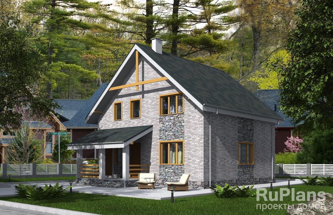 заказать Одноэтажный дом с мансардой. Rg5341