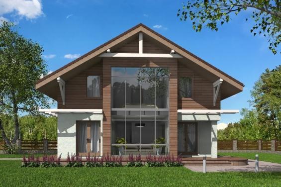 проекты домов из керамзитобетона с мансардой