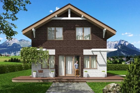 Проекты домов из керамзитобетона с мансардой купить машину с бетоном