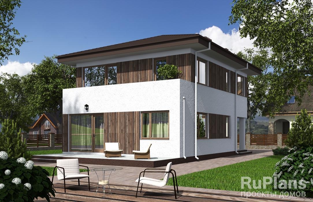 Двухэтажный дом с террасой и балконом Rg5595
